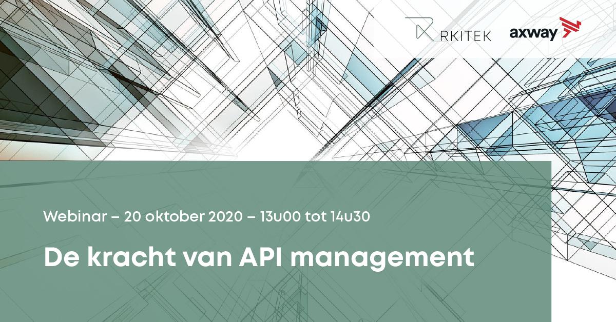 "Webinar: ""De kracht van API management"""
